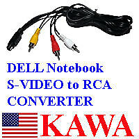 S-VIDEO 7 PIN to 3 RCA Cable TV for ACER Dell LAPTOP