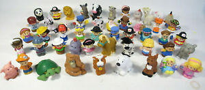 Lot of 50 Fisher Price Little People Figures & Zoo Animals