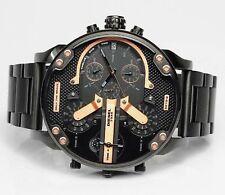 NEU Diesel DZ7312 Mr.Daddy Herren Armbanduhr Chronograph Edelstahl Schwarz Rosé