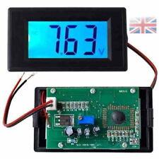 Blue LCD Digital Voltage Volt Meter Voltmeter Panel 20V - UK seller