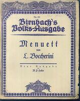 """ Menuett "" ~ L. Boccherini, alte Noten, übergroß"