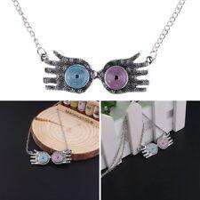 Luna Lovegood Glasses Harry Potter Eye Choker Pendant Necklace Zinc Alloy Gift