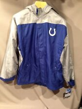 NWT Boys INDIANAPOLIS COLTS NFL REEBOK Weatherproof Coat 18/20 Gray Blue Hood