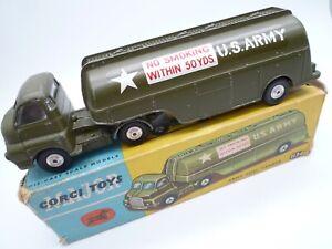 VINTAGE CORGI 1134 BEDFORD US ARMY FUEL TANKER IN ORIGINAL BOX 1965-66