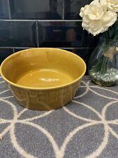 Vintage Retro 80's Caramel Brown Yellow Fruit Bowl Decor M