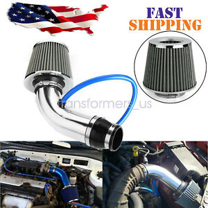 US Cold Air Intake Filter Induction Kit Pipe Power Flow Hose System Car Auto
