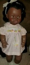 VINTAGE 1971 EEGEE SOFTINA DRINK AND WET DOLL AFRICAN aMERICAN