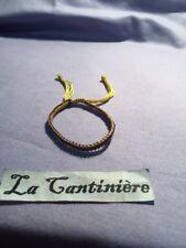 Bracelet Bouddhiste Tibet Asie Porte Chance Fait Main Jaune Violet 0601161
