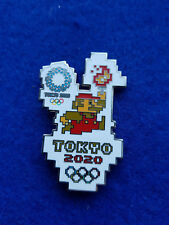 Tokyo2020 torchbearer  Olympic flame in the style of LEGO Super Mario silver Ton