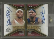 2009-10 SP Game Used LeBron James Mo Williams Multi Marks Dual Auto Cavaliers