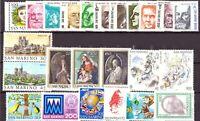 1982 San Marino Annata Completa Nuovi Come Unificato 24 Valori Integri