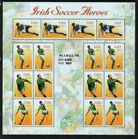 FAI - IRISH SOCCER - 2002 IRELAND  DX225c  STAMPA  MEMBERS SHEETLET - SCARCE -