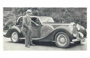 Nostalgia Postcard 1939 Lagonda, an owners view Reproduction Card NS28
