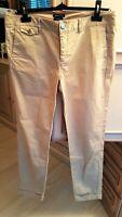 pantalon toile beige Massimo Dutti casual fit taille 40 tbe (C971)