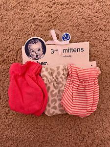 Gerber Baby Mittens 0-3 Months