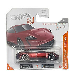 HotWheels ID Chase Porsche Taycan Turbo S Short Card Spectraflame Red