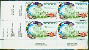 Tonga 2000 30th Anniv Membership of Commonwealth set of 4 in V.F MNH Corner I