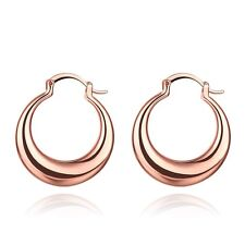 Women's Earrings 18K Rose Gold Filled Ear Clip Fashion Jewelry