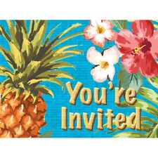 Aloha 8 Invitations with Envelopes Summer Luau Party