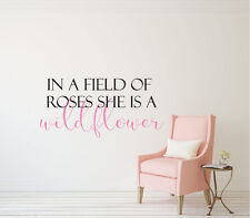 In a Field of Roses - Vinyl Decal Wall Art Decor Sticker - Home Decor v2