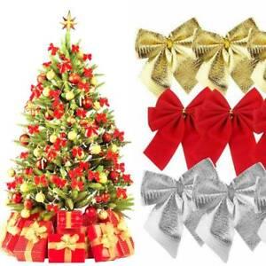 12x Weihnachten Schleifen Christbaumschmuck Weihnachtsbaumschmuck Dekoration Neu