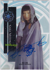 "2015 TOPPS STAR WARS HIGH TEK AUTO #49: BAI LING as BANA BREEMU AUTOGRAPH ""LOST"""