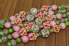 9 inch strand Lilah Ann Beads Elite Bohos - Indonesian, Glass, Pave - LA925