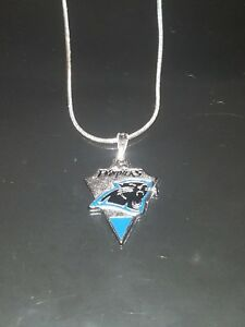 Carolina Panthers Necklace Pendant Sterling Silver Chain NFL Football