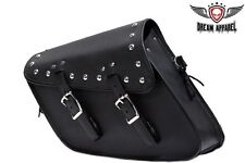MOTORCYCLE STUDDED SWING ARM SOLO SADDLEBAG WITH TWO STRAPS 13 4 10 GREAT PRICE