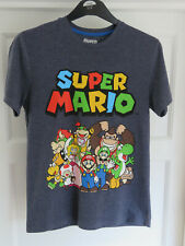 Super Mario Characters Mens T-Shirt Grey Small George (Luigi, Yoshi, Bowser)