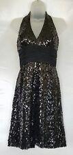 White House Black Market Black Women's Size 2 Sequins Sleeveless Dress NWT  L25