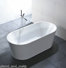 "Bathroom Acrylic Free Standing Bath Tub ""Thin Edge"" 1500x750x600 Freestanding"