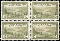 Canada Mint VF Scott #269 1946 Block 10c Peace Issue Stamps Never Hinged
