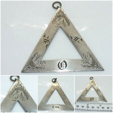 Antique Sterling Silver Masonic Royal Arch Ancient Order Druids Pendant c.1912