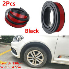 2Pcs 4.5cm Car Fender Flares Extension Wheel Eyebrow Protector Lip Moulding