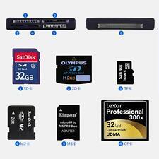 External USB Memory Card Reader SD SDHC Mini Micro M2 MMC XD CF MS TF All in One
