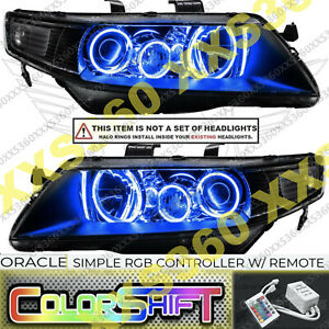 ORACLE Headlight HALO KIT RINGS for Acura TSX 04-08 LED ColorSHIFT Simple RGB