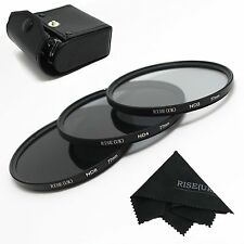 RISE(UK)77MM Neutral Density Filter Lens Set Kit ND2 ND4 ND8 ND 2 4 8+gift