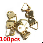 100x Small Triangle D-Ring Picture Canva Frame Hanger Framing Single Screw Hole