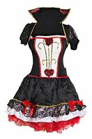 Queen of Hearts Fancy Dress Ladies 6 8 10 12 14 16 Fairytale