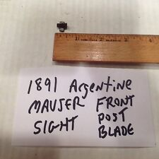 1891 ARGENTINE MAUSER RIFLE Front sight blade & base
