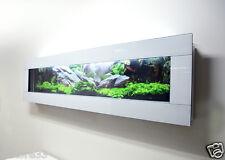 MOUNTED FISHTANK MODERN NEW WHITE WALL AQUARIUM 6 FT FISH TANK GLASS LIVE ART
