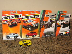 Matchbox Lot of 5 1985 Toyota 4 Runner Variation '85 Yellow Red Blue White