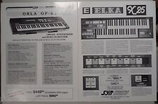 Iorio Elka X25 and Orla OP-61 Keyboard Synthesizer Brochures Syncordian