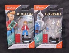 Mega Construx Heroes • Futurama FRY & BENDER Mini Figures