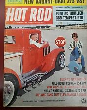 Hot Rod Magazine December 1963 Featuring PONTIAC THRILLER 389 TEMPEST GT0