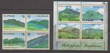 Philippine Stamps 2003 Mountains Blk of 4 & Souvenir Sheet complete MNH