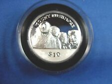 2015 MT RUSHMORE Ultra High Relief SILVER PROOF $10 Coin British Virgin Islands