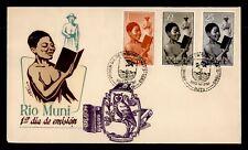DR WHO 1960 SPANISH RIO MUNI FDC READING/LITERACY CACHET COMBO  f49427