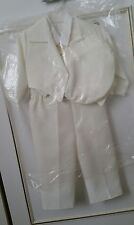 Ivory white Christening Baptism Pageboy Suit 5 Piece Baby Boy 6 months